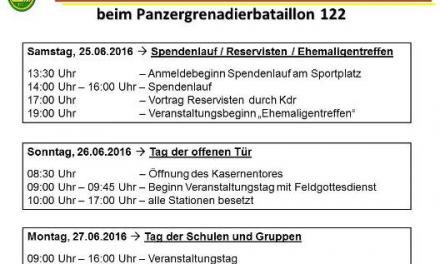 Aufruf des PzGrenBtl 122 an alle Reservisten