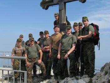 Sommerausbildung auf dem Gebirgsstützpunkt SOIN-Hütte