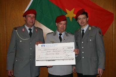 Dank aus Afrika an die Reservistenkameradschaft Ebermergen