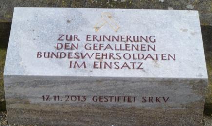 Zur Erinnerung den gefallenen Bundeswehrsoldaten im Einsatz